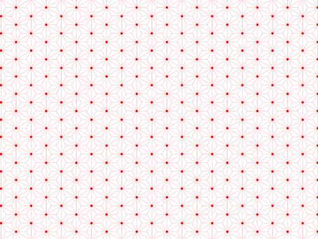 Hemp pattern red