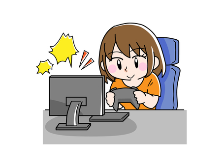 Women who play games happily