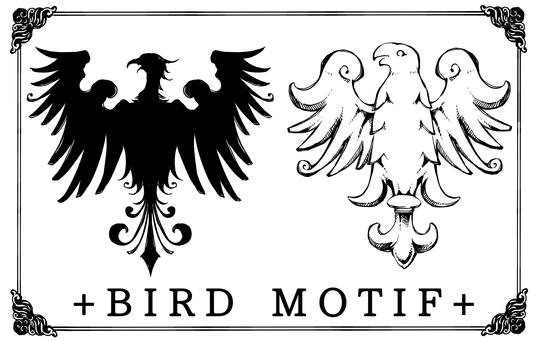 Antique style bird motif