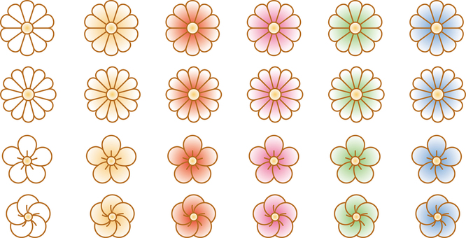 Japanese style flower parts
