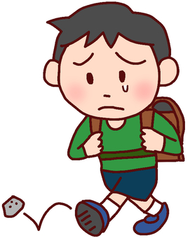 Illustration of a boy who is going to be lonely