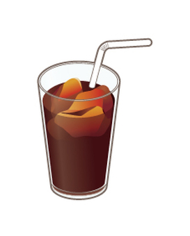 Ice coffee _ with straw