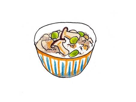 Matsutake mushroom rice