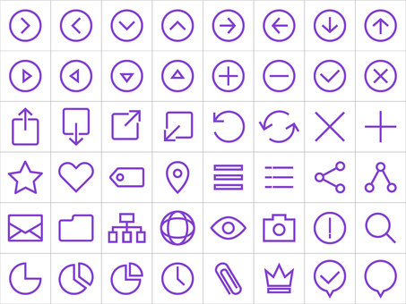 Line icon set (thick)