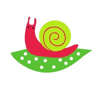 Snail sitting on leaves