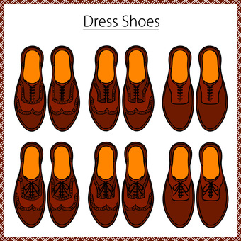 Leather shoes business shoe set 9