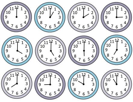 12 hour clock set