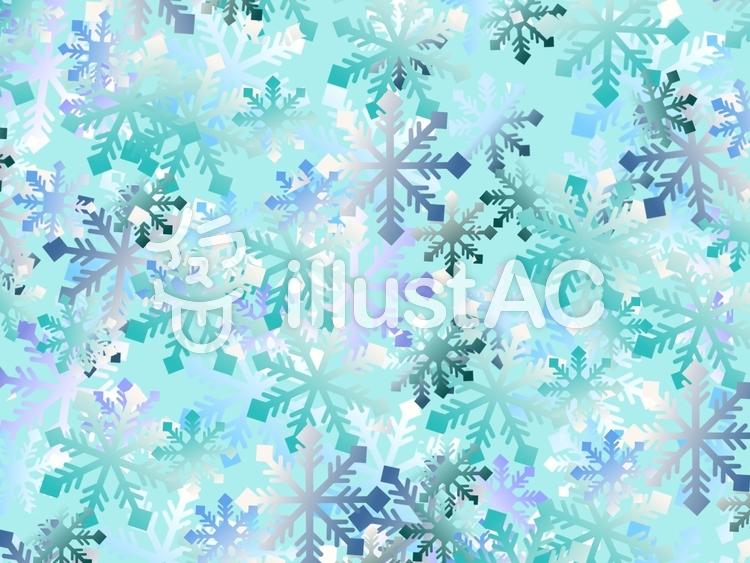 雪の結晶背景①のイラスト