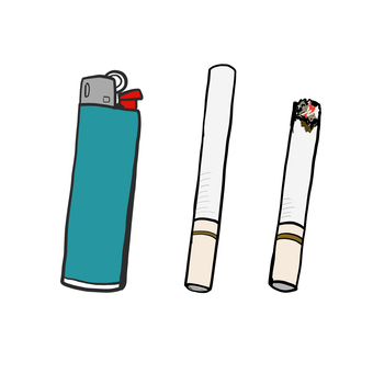 Tobacco and lighter