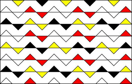 Triangle pattern bow tie image