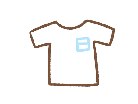 シンプルなポケットつきTシャツ