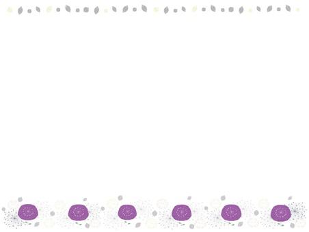 북유럽 풍의 보라색 꽃 프레임