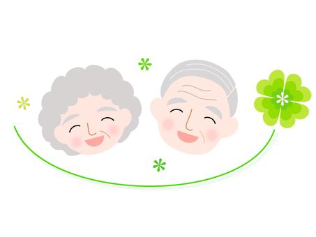 一對老夫婦的插圖