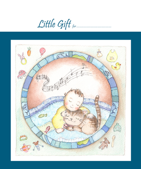 Gift tag for baby - for men