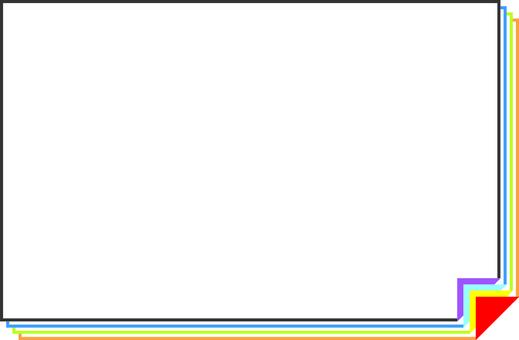 Simple frame (Rainbow color)