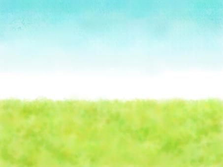 초원과 푸른 하늘