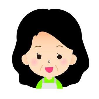 女性 顔アイコン