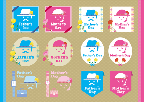 Father's Day & Mother's Day Icon Set _ 02