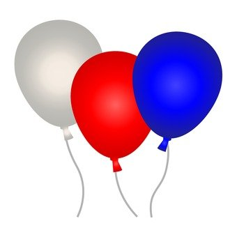 3 color balloons