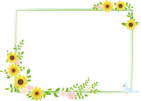 Sunflower decorative frame 2
