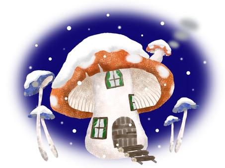 Mushroom house (winter)
