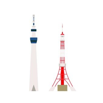 Tokyo Sky Tree and Tokyo Tower