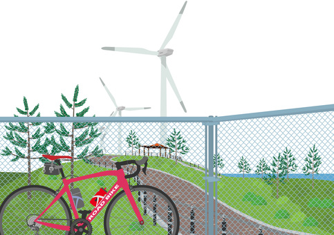 Wind power and road bike Hibiki