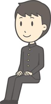 中学生学ラン男性-564-全身