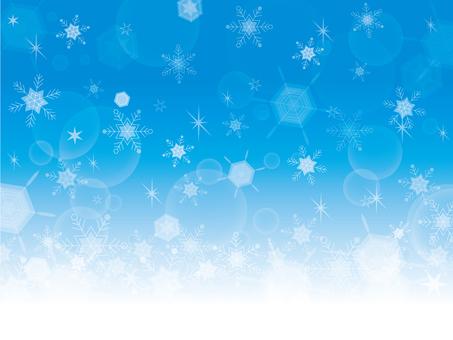 Frame snow crystal (blue)
