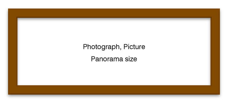 Panoramic frame Brown