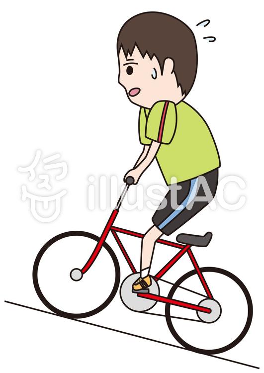 自転車坂道イラスト No 655249無料イラストならイラストac