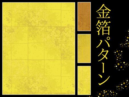 Colección de material de patrón dorado estilo japonés · conjunto