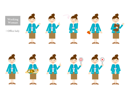 Working lady 4 (whole body variation)