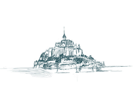 Mont Saint Michel Drawing