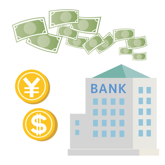 Bank illustration money