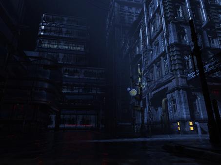 夜の都市背景