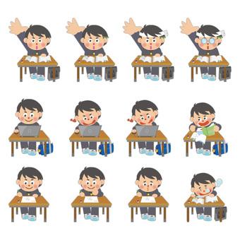 Male Student Set
