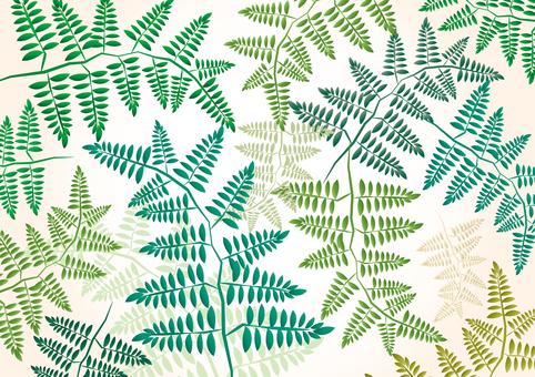 무료 일러스트 잎 녹색 프레임 테두리 배경