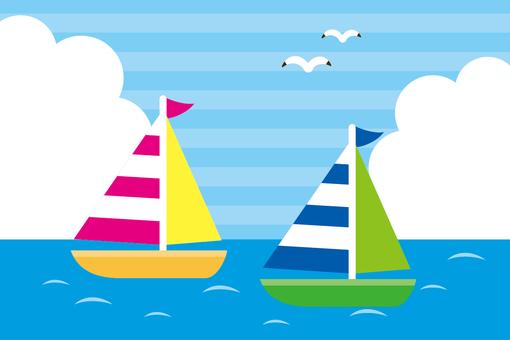 風景 海とヨット