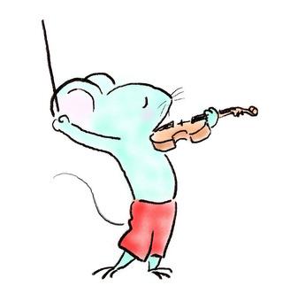 バイオリンねずみ23