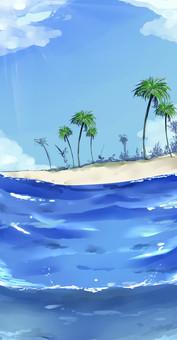 Sea background ⑥