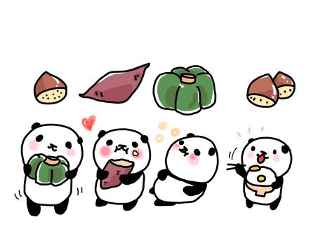 食欲の秋とパンダ