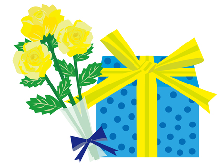 Roses and gifts for Father's Day