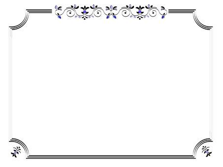 Leaf frame (blue)