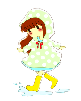 Rain Lily and girl