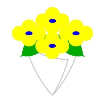 꽃다발 노란색