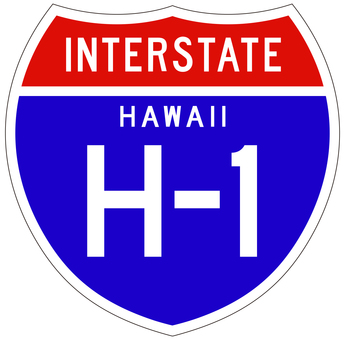 標識_高速道路ハワイ1号線
