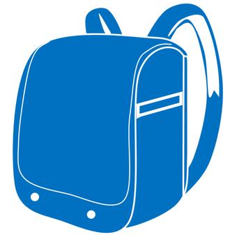 School bag blue