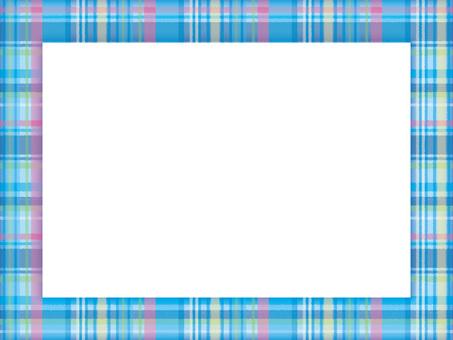 Border frame check 02 blue
