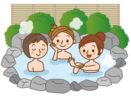 Women's hot-spring trip